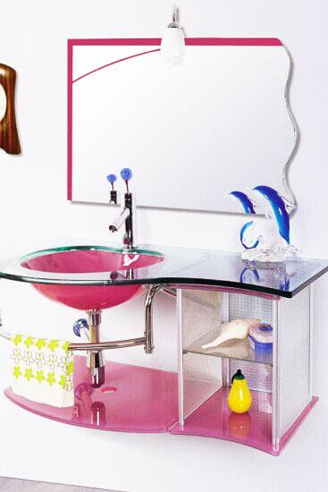 粉色浴室柜设计图