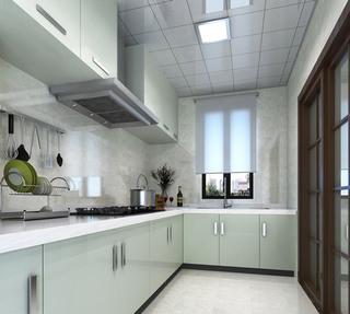 白色厨房集成吊顶效果图