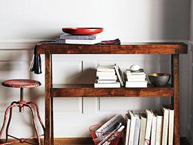 书房实木置物架图片 实用书房设计