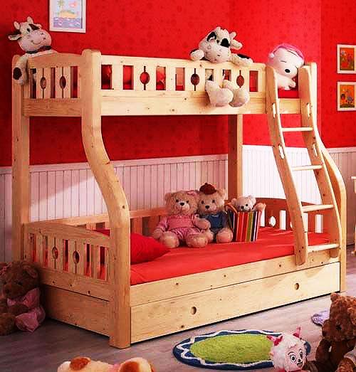 实木儿童床效果图