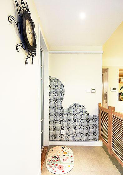玄关马赛克背景墙马赛克图片-装修效果图案例 2017年装修效果图 齐家
