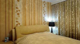 彩条竖纹卧室壁纸设计效果图
