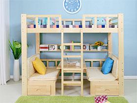 多彩简约风儿童房上下床设计图