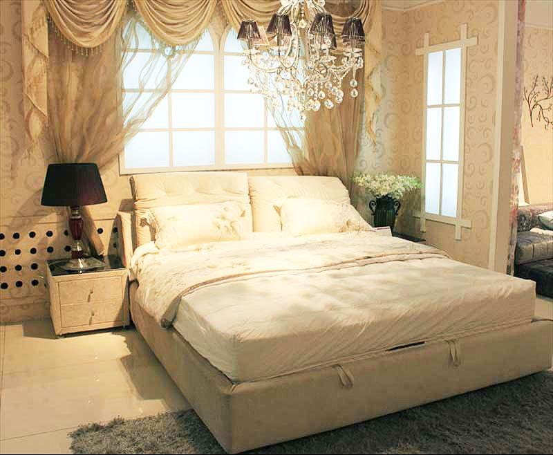 欧式布艺床效果图