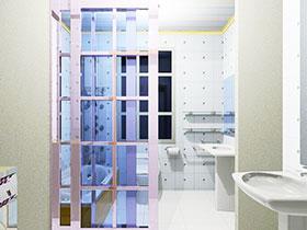 13张卫生间隔断门效果图 简单实用