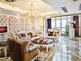 14张沙发软包背景墙图片 典雅欧式风