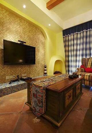 马赛克客厅电视背景墙设计效果图