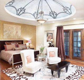 圆形卧室吊顶效果图