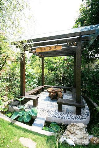 别墅庭院景观效果图