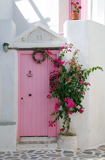 粉色实木门效果图