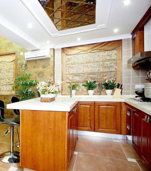中式风格厨房灯具装修效果图大全图片