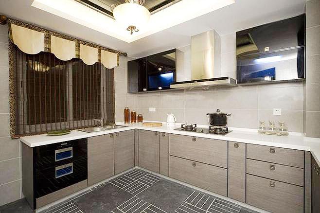 中式厨房灯具效果图