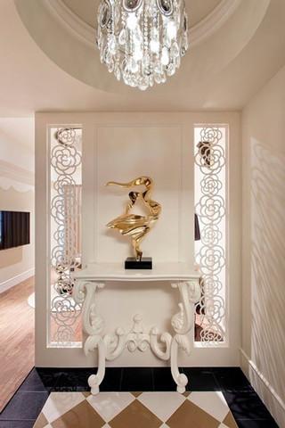 优雅白色欧式玄关柜图片