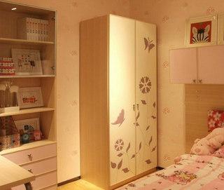 儿童房卧室衣柜效果图