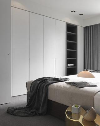 现代白色整体衣柜效果图