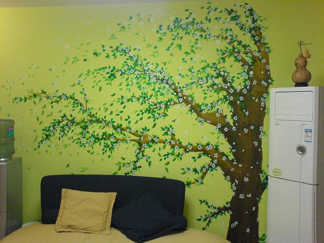 沙发背景墙墙绘装修图片