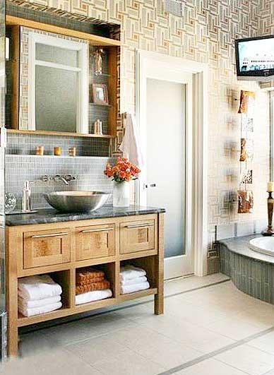 中式浴室柜装修效果图大全