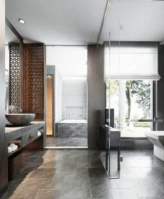 中式浴室柜装修设计图片