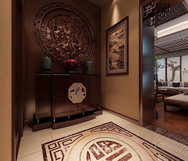 经典中式玄关柜图片