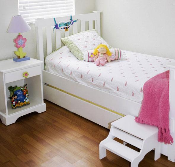简约白色儿童床效果图