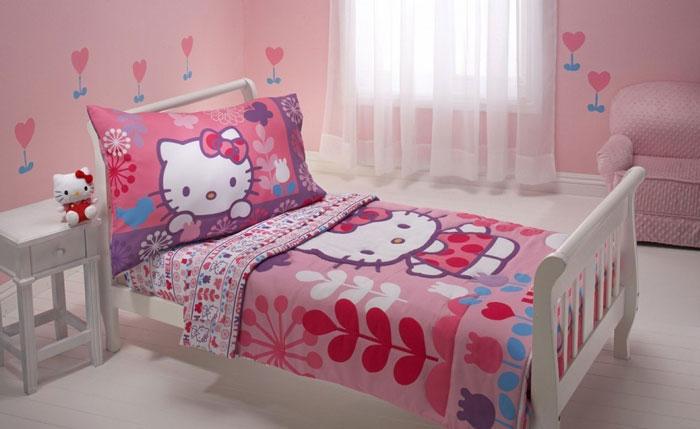 白色儿童床图片