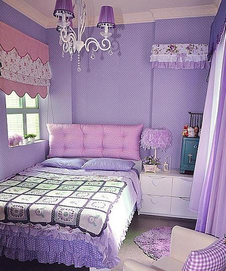 浪漫紫色卧室效果图