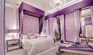 欧式紫色卧室效果图片