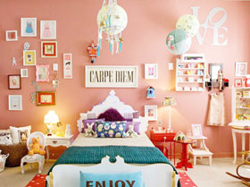 床頭好風景 16款臥室床頭背景墻圖片