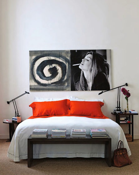 宜家装饰画卧室背景墙效果图