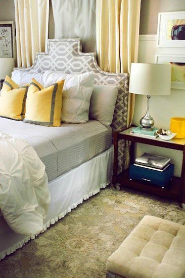 布艺床头软包设计图片