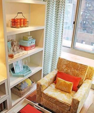 现代客厅书柜设计效果图