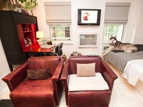 48平复古混搭风 单身公寓设计图