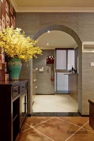 拱形门玄关走廊设计效果图