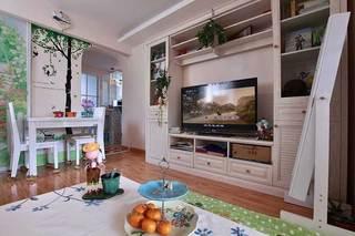 白色收纳型电视柜设计效果图