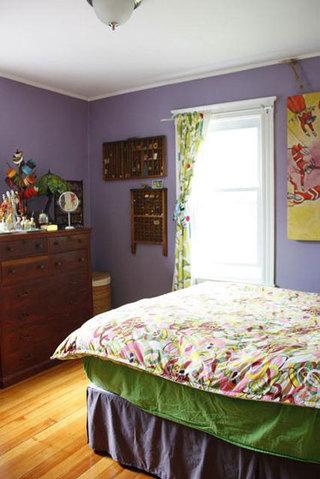 宜家紫色卧室设计效果图