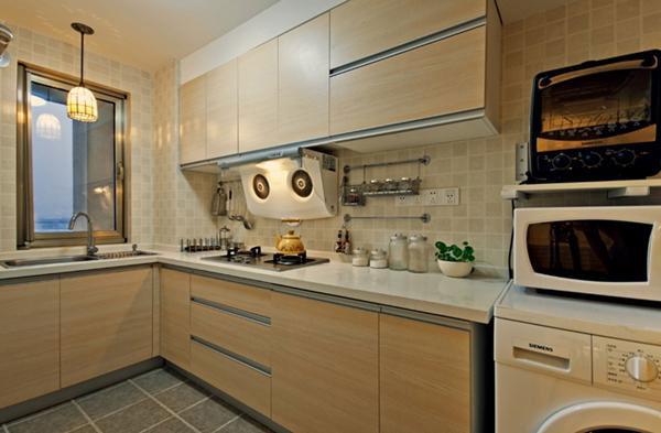 现代暖色调厨房设计效果图