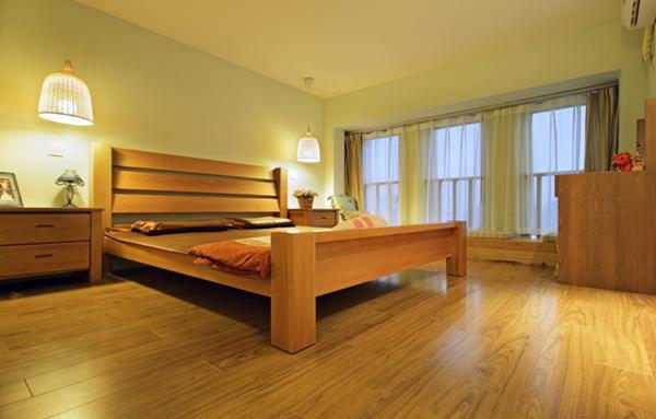 暖色调舒适卧室设计效果图