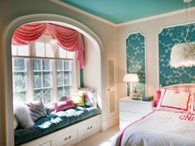 明媚卧室飘窗 12款收纳飘窗设计