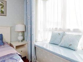 舒适又清爽 15款蓝色飘窗窗帘图片