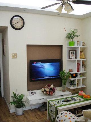收纳式电视背景墙设计效果图