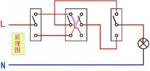 家庭装修电路图之双控开关接线图