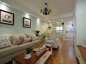 淡彩文艺美式混搭二居装修 拥抱绿色小清新