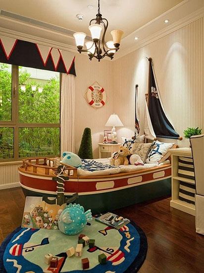 英伦风格儿童房地毯布置图