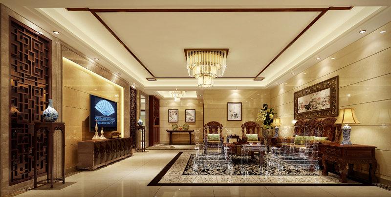 纯水岸新中式豪宅图片