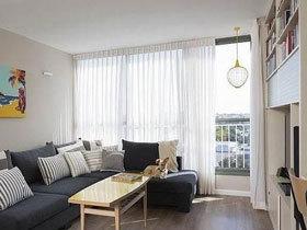 白色窗帘好采光 13款客厅飘窗设计