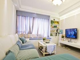 完美裝飾客廳 12款地中海飄窗效果圖