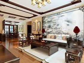 高端古典中式别墅样板房效果图