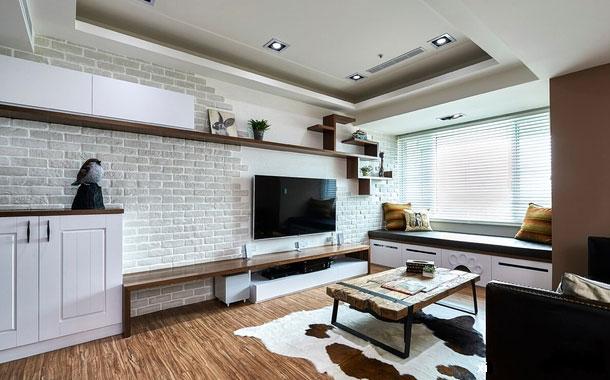 砖砌电视背景墙设计效果图