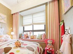 可爱樱花粉 14款粉色飘窗窗帘