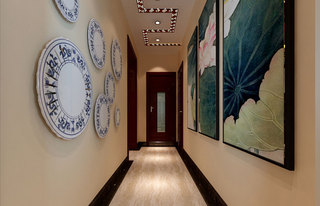 中式走廊过道设计效果图